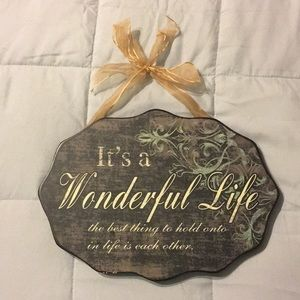 Small Decorative Wall Plaque